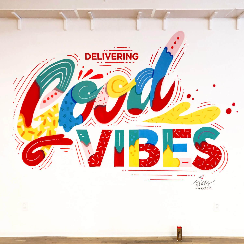 Good Vibes Mural