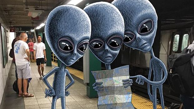 Subway Aliens by Subway Doodle
