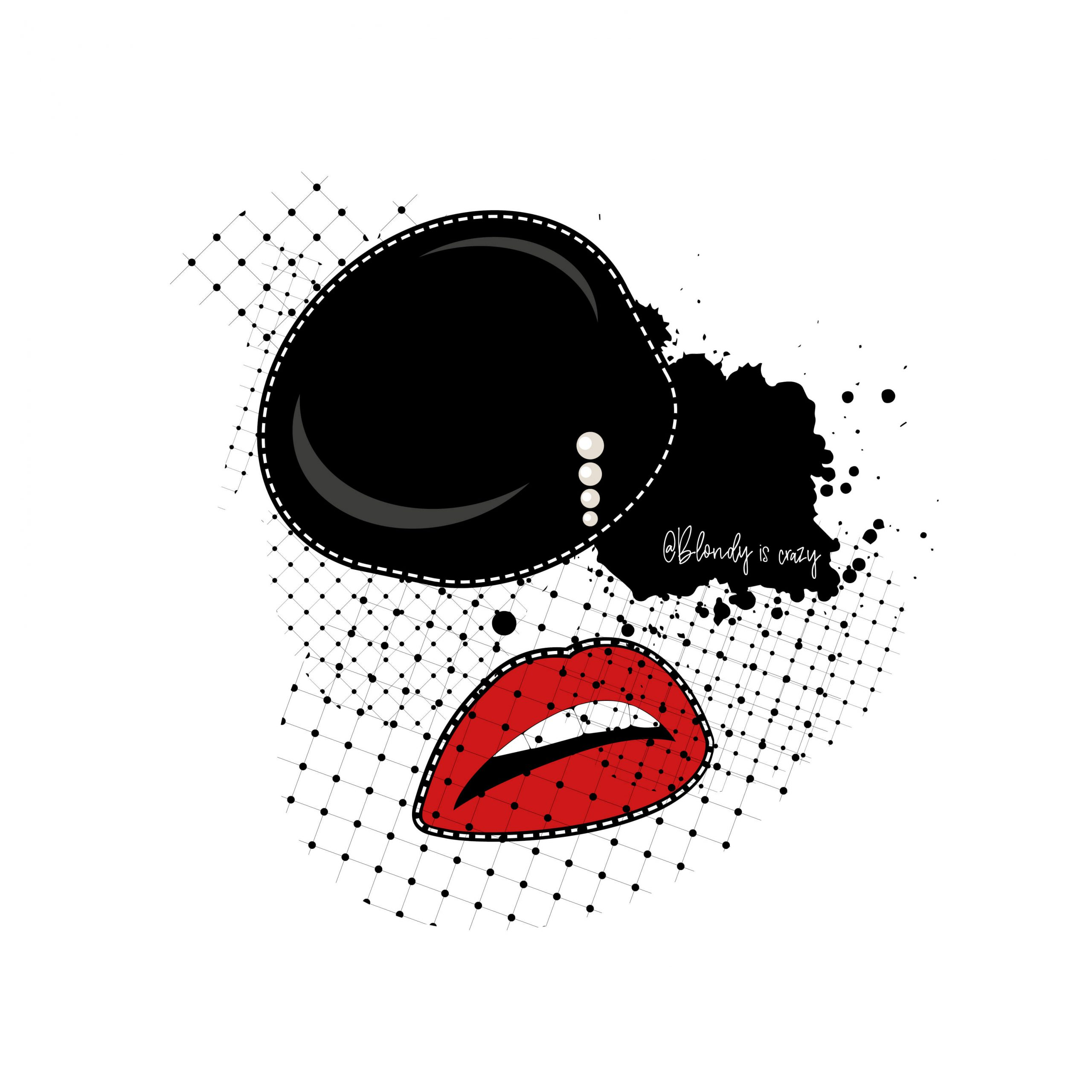 Black Makeup and Red Lips by Blondy is Crazy