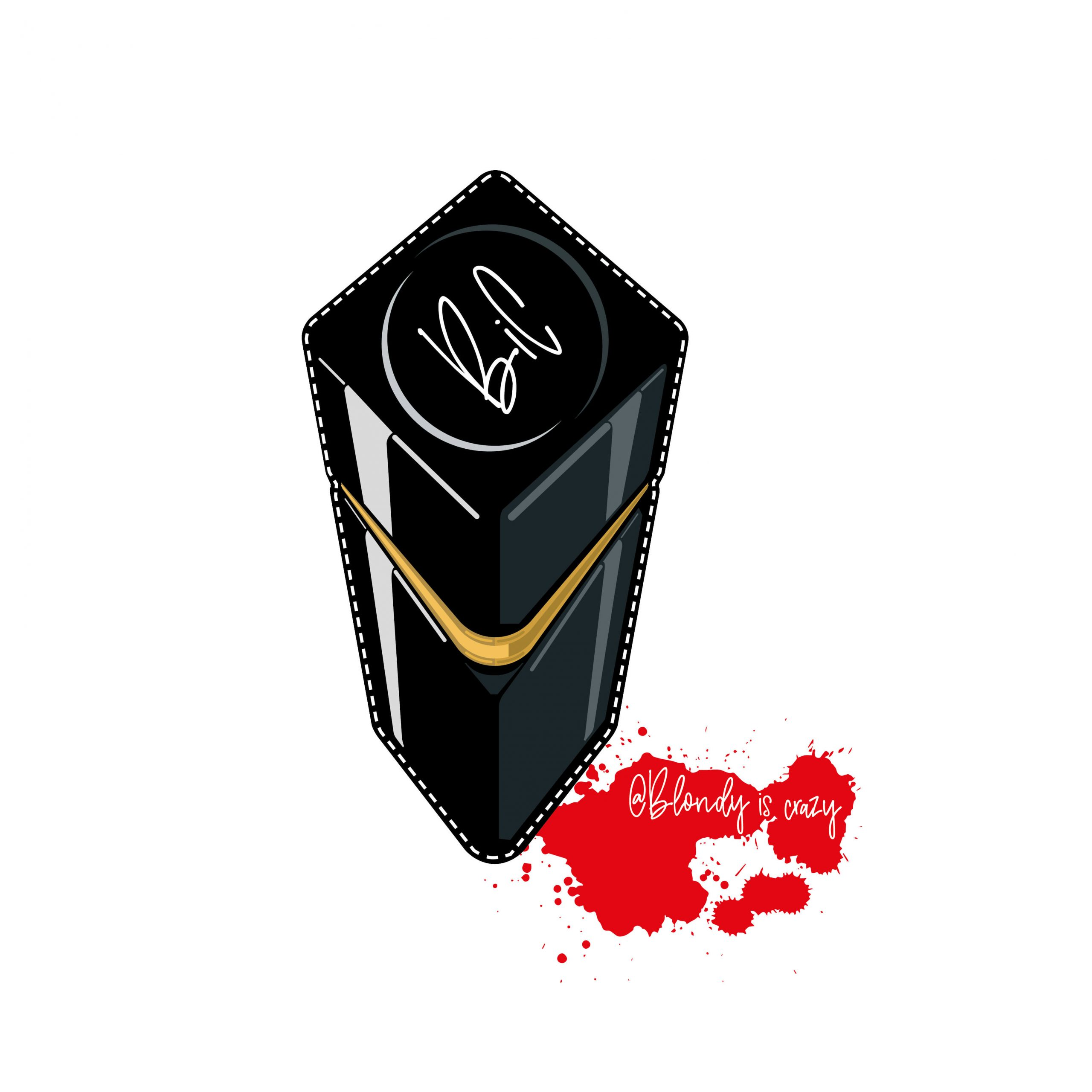Closed Lipstick by Blondy is Crazy