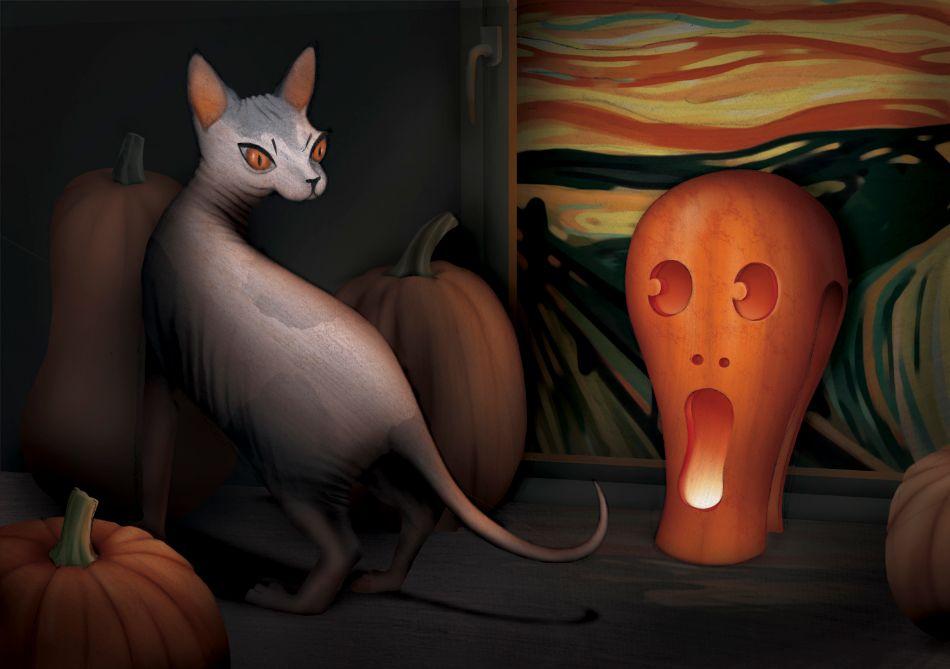 Scream Cat by Daria Schychenko