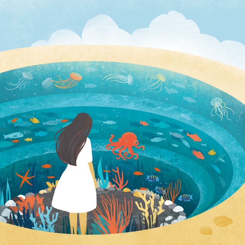 Deep Blue by Daria Schychenko