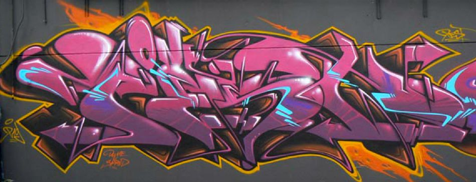 Pink Mural by Pest