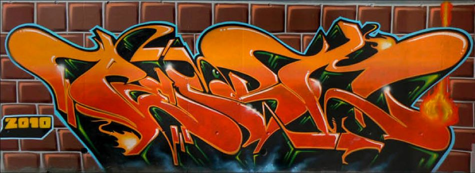Brick Mural by Pest