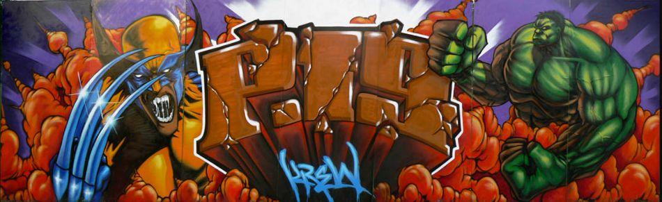 Super Hero Mural by Pest