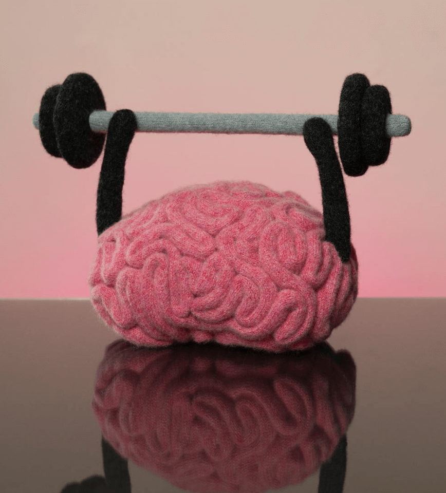 Brain lifting weights by Jessica Dance