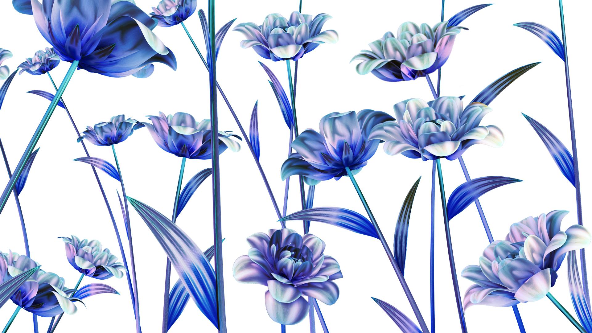 Blue Flowers by Sofia Pusa