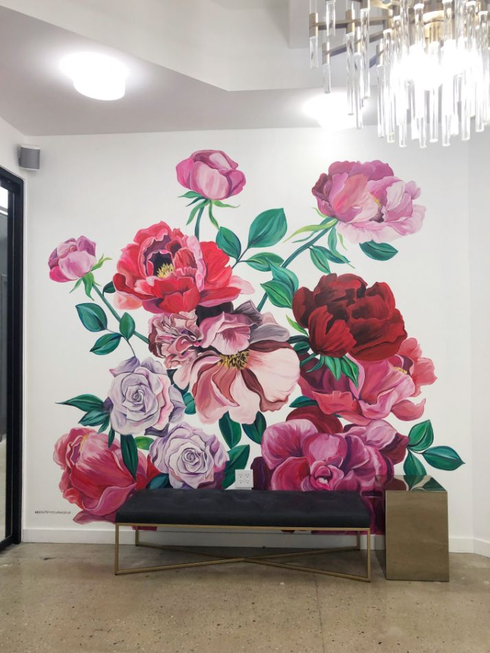 Flower Wall by Surface of Beauty