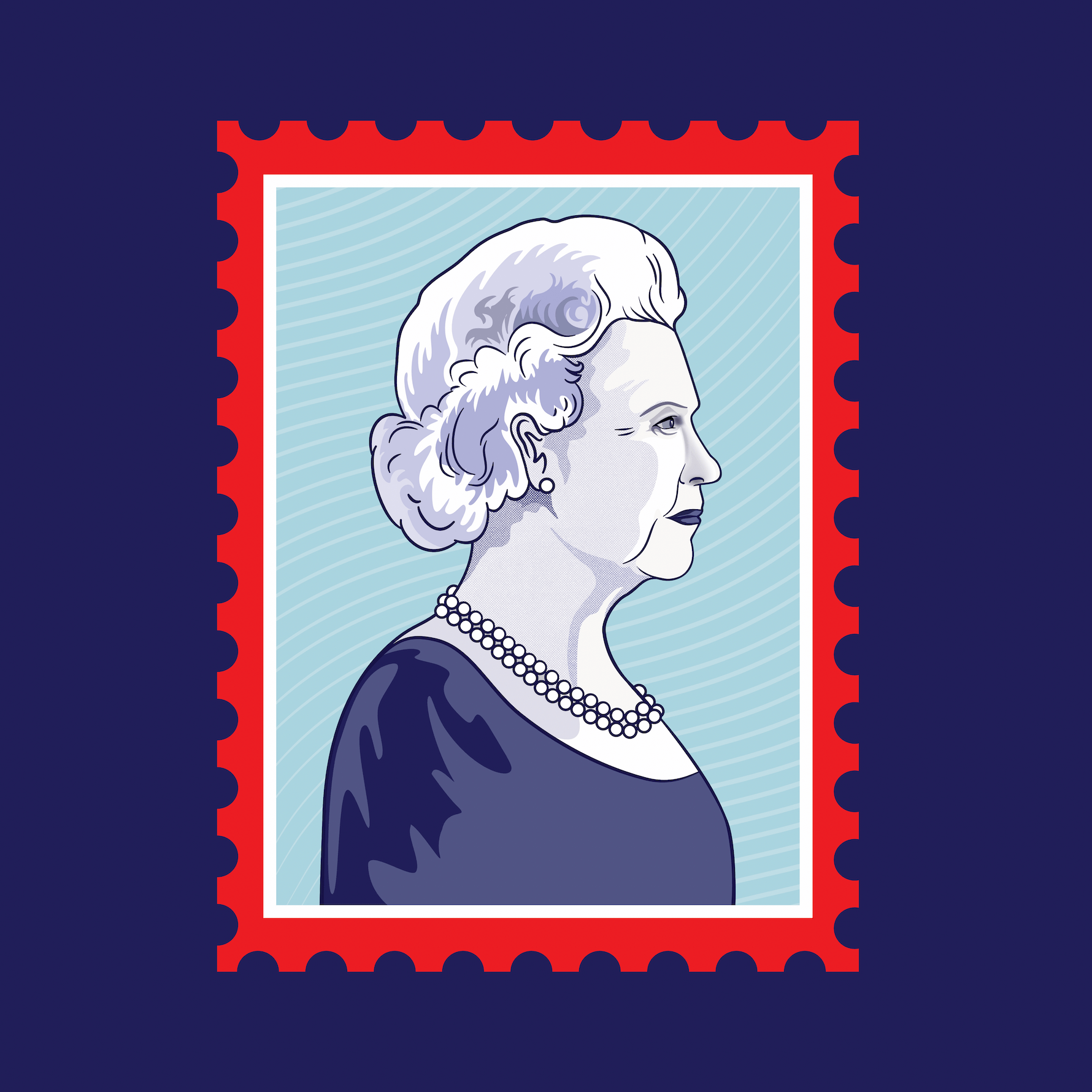 The Queen Stamp