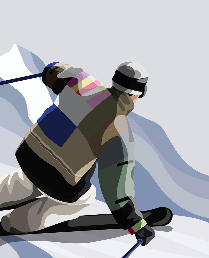Skiing by Mathilde Crétier