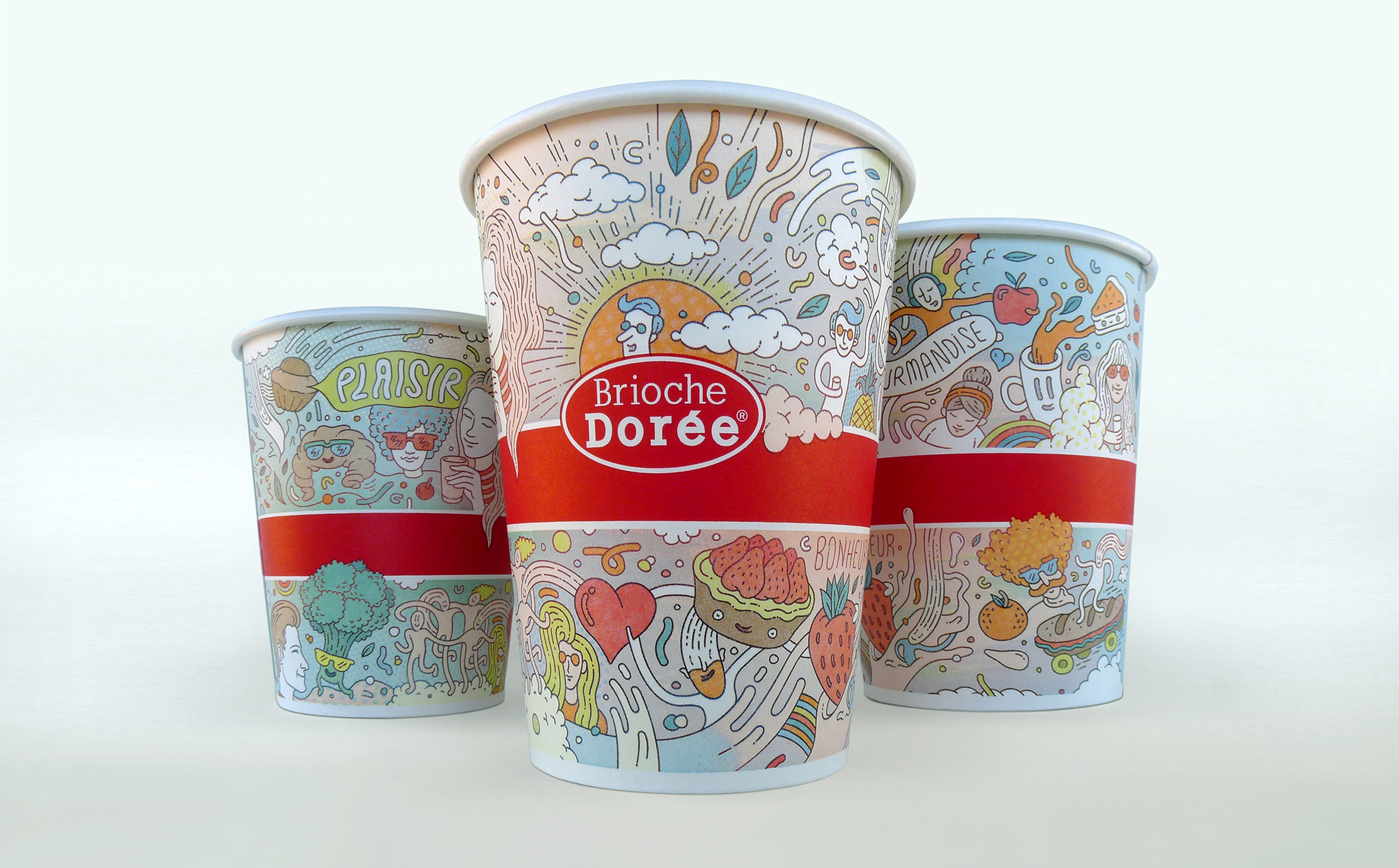 Brioche Doree Packaging Illustration