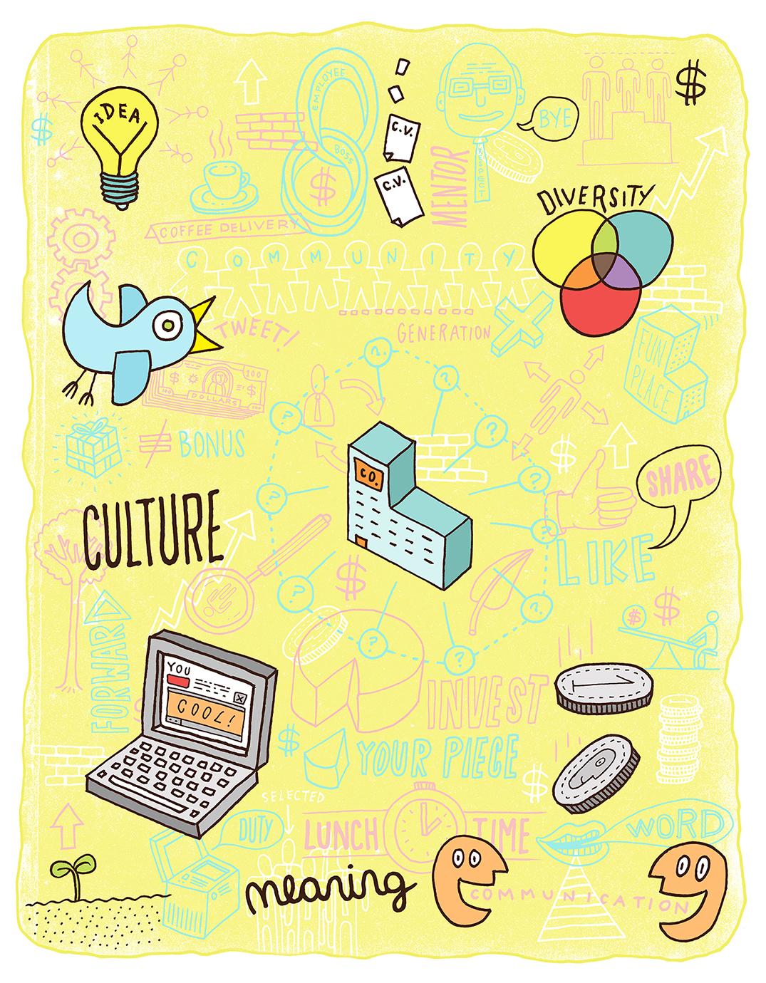 Business Canada Editorial Illustration