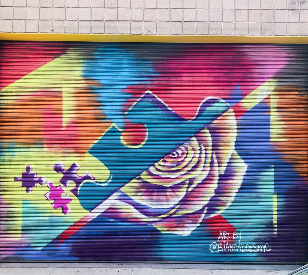 Puzzle and Rose Mural - Bianca Romero
