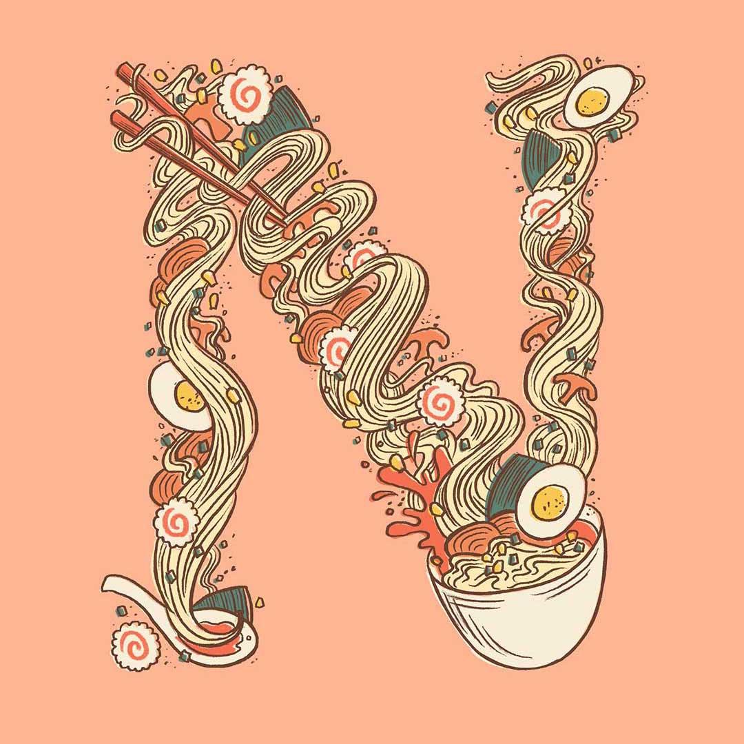 belinda-kou-ramen-noodle-letter