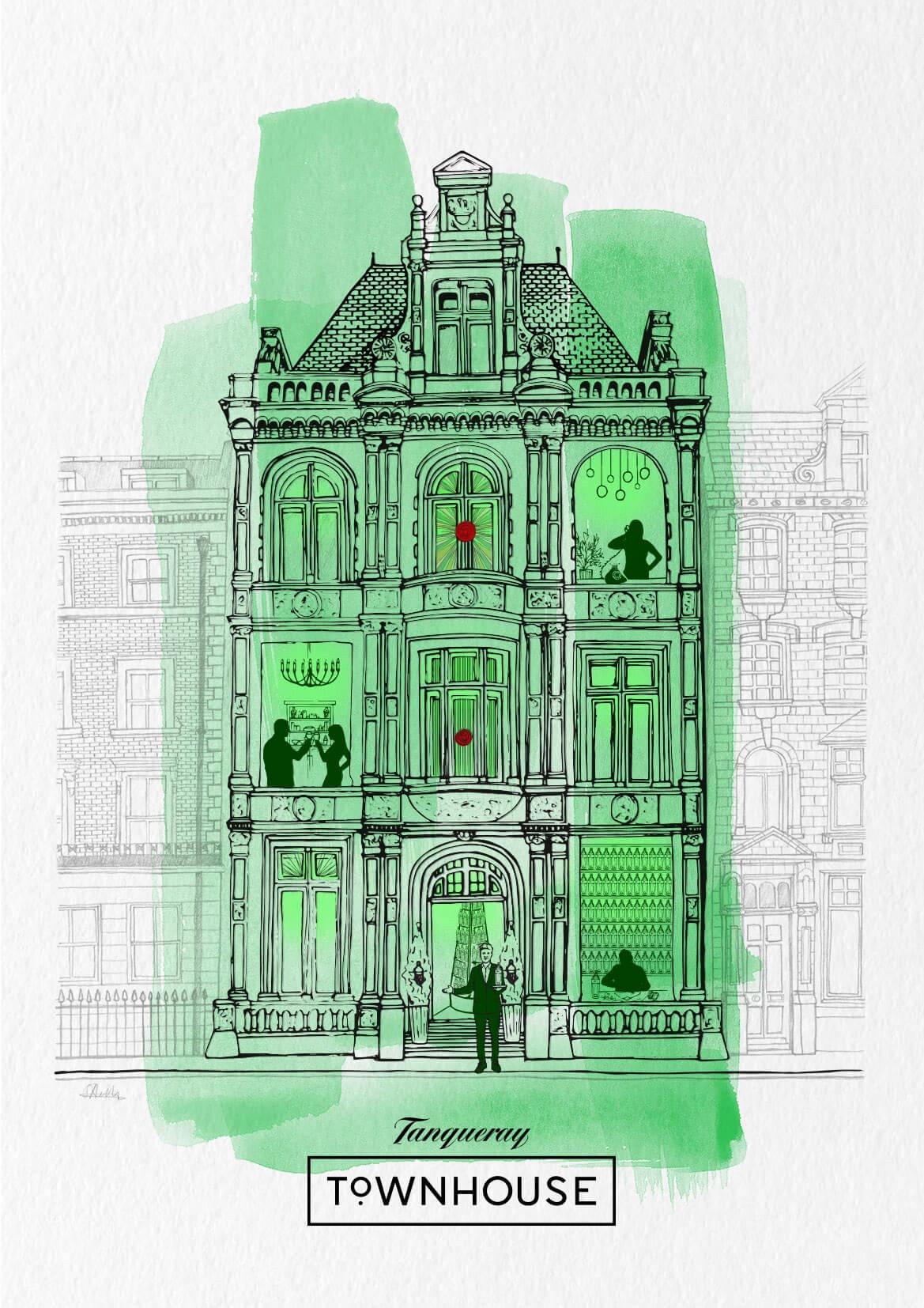 Tanqueray_Townhouse_Illustration_Portfolio