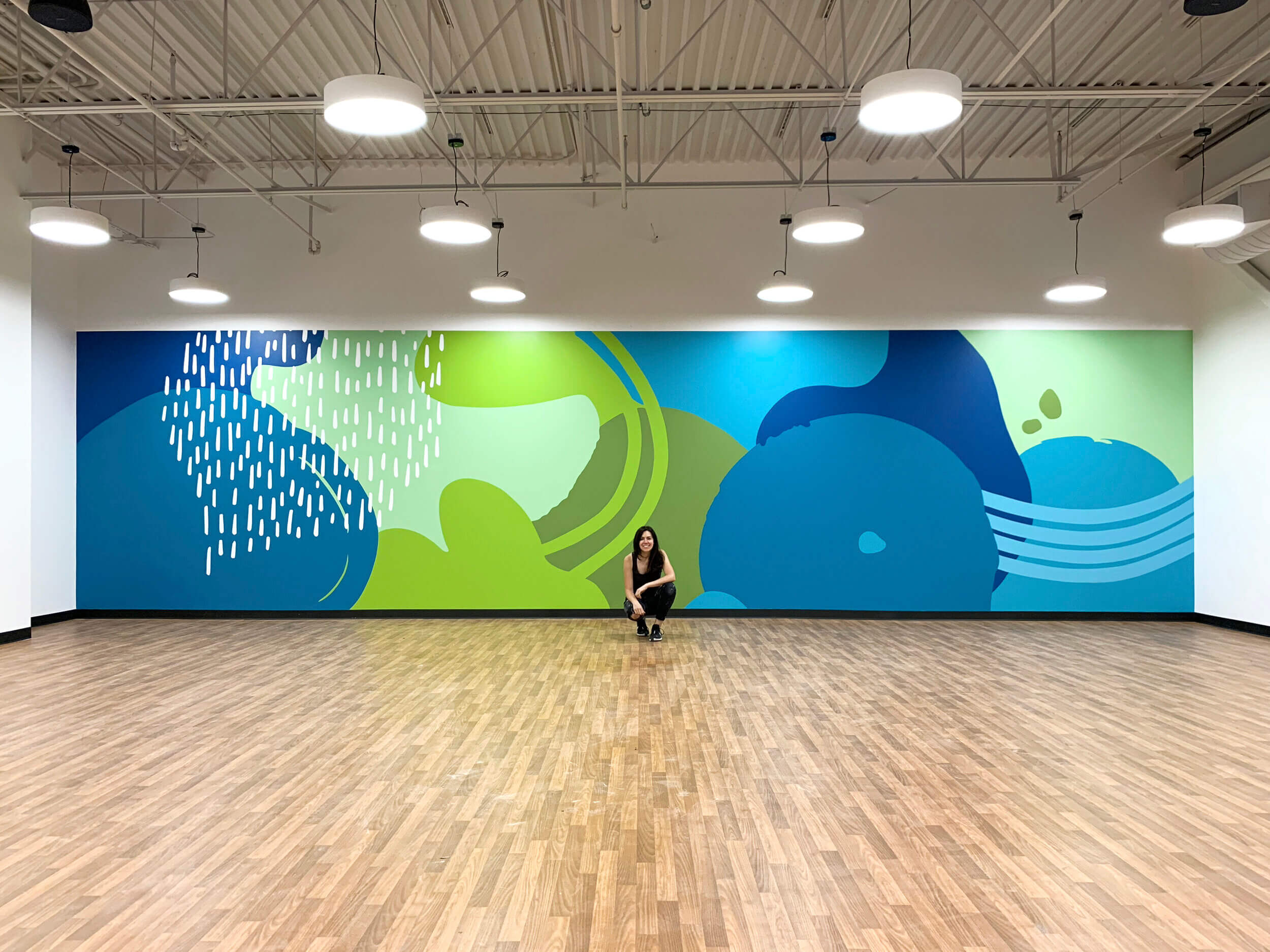 Cool Tones Mural by Emmy Star Brown