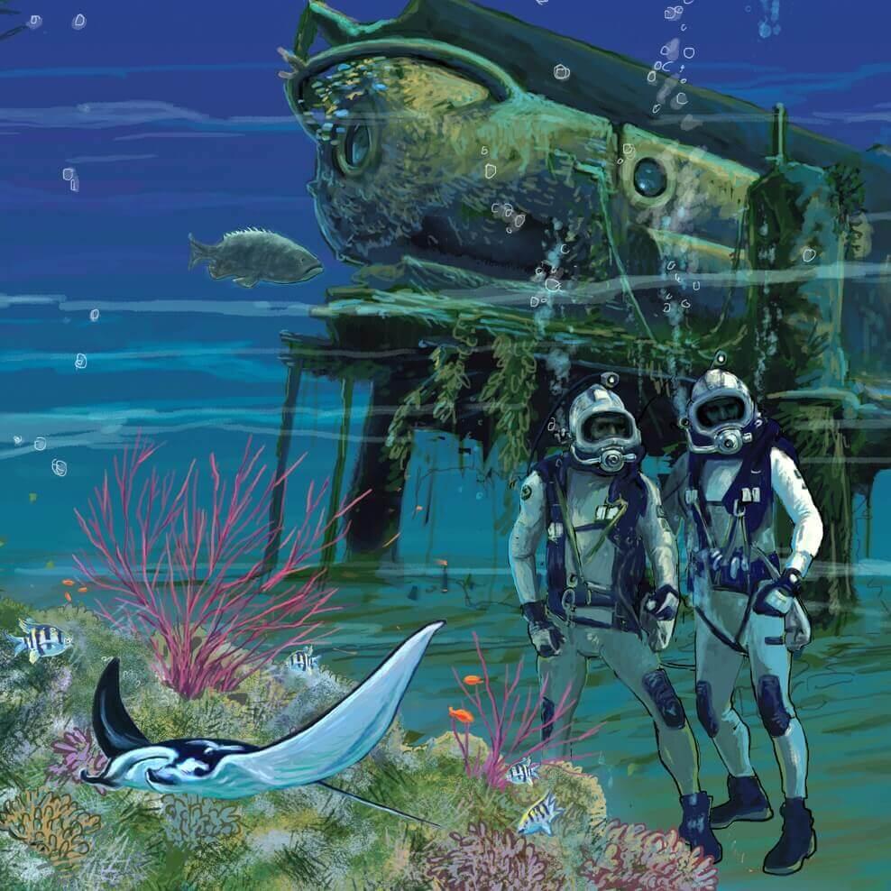 Under the sea by Marc Evan
