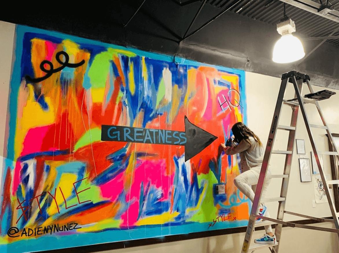 Greatness Mural by Adieny Nuñez