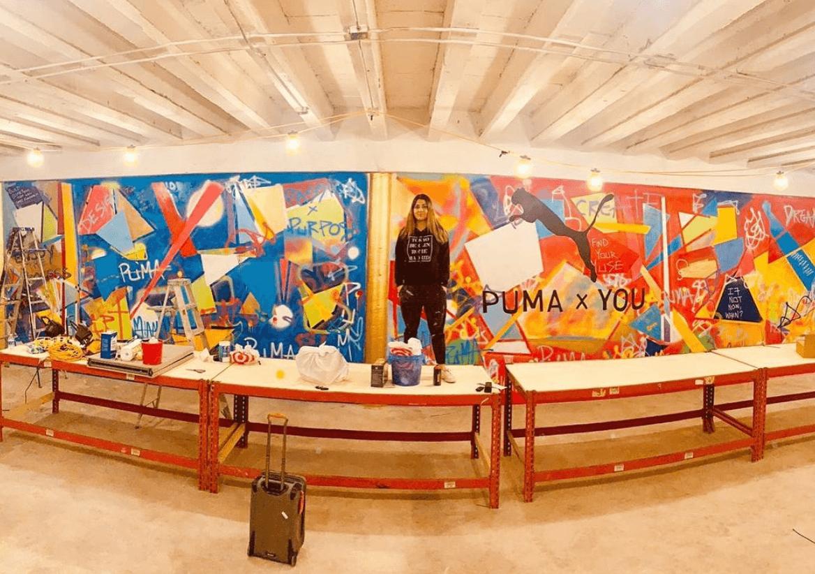 Puma Mural by Adieny Nuñez