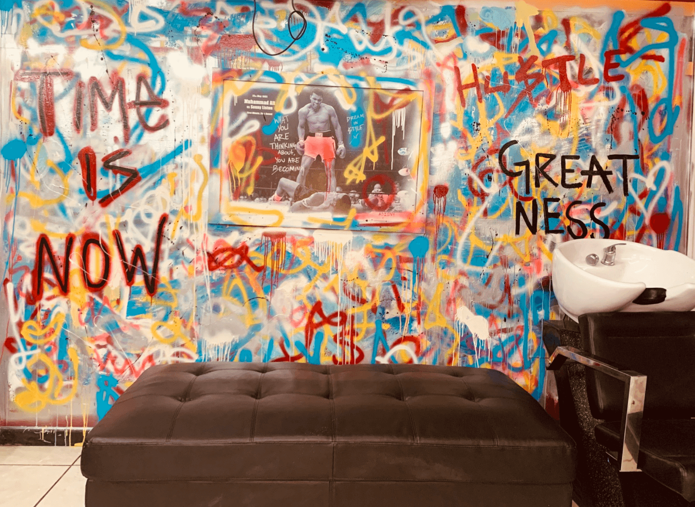 Abstract Mural by Adieny Nuñez