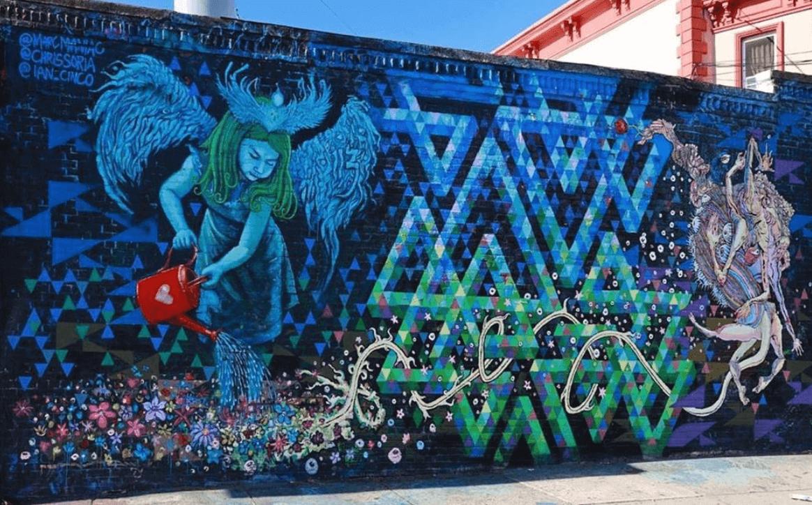 Angel Mural by Marc Evan