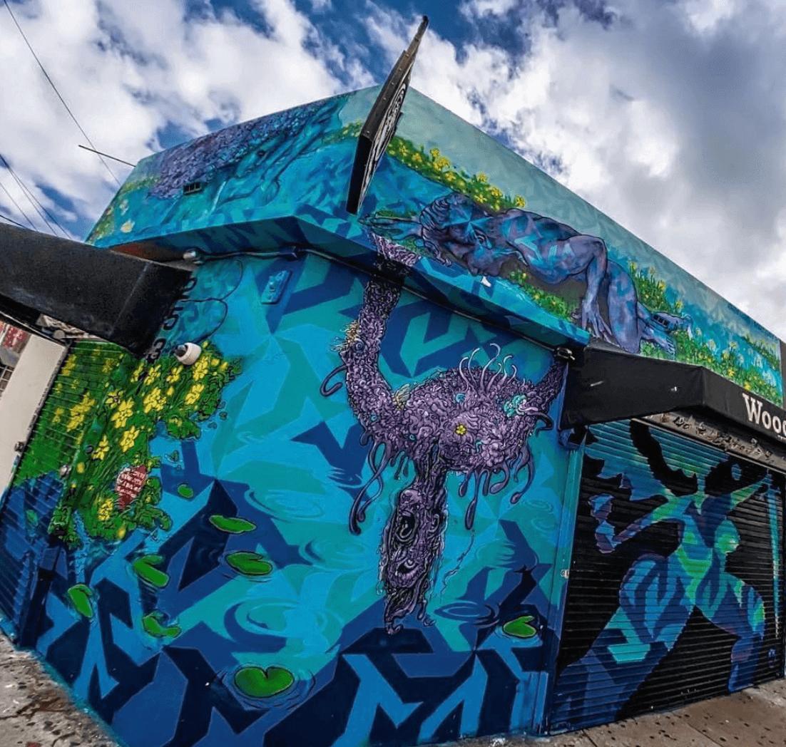 Ocean Street Corner Mural by Marc Evan