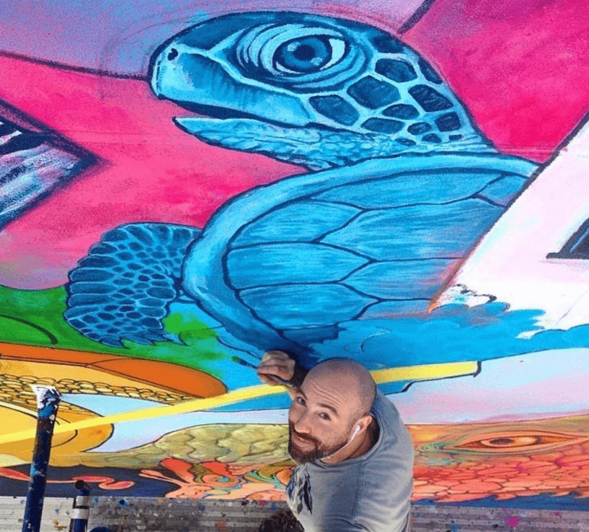 Turtle Mural by Marc Evan