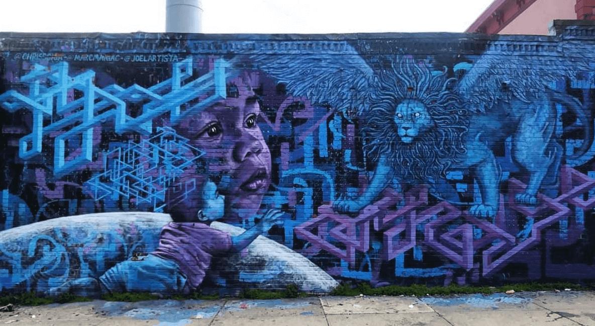 Purple Dream Mural by Marc Evan