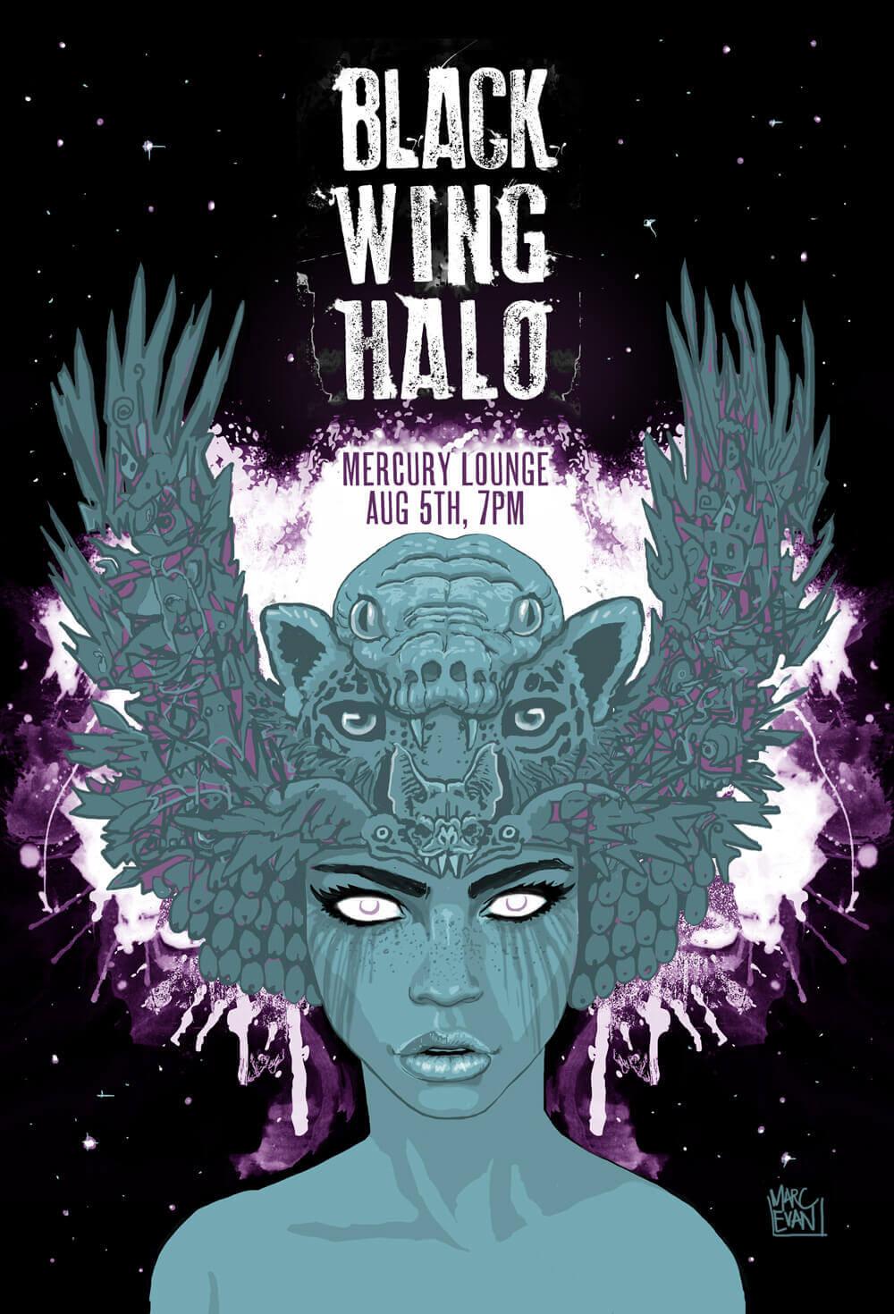 Black Wing Halo by Marc Evan