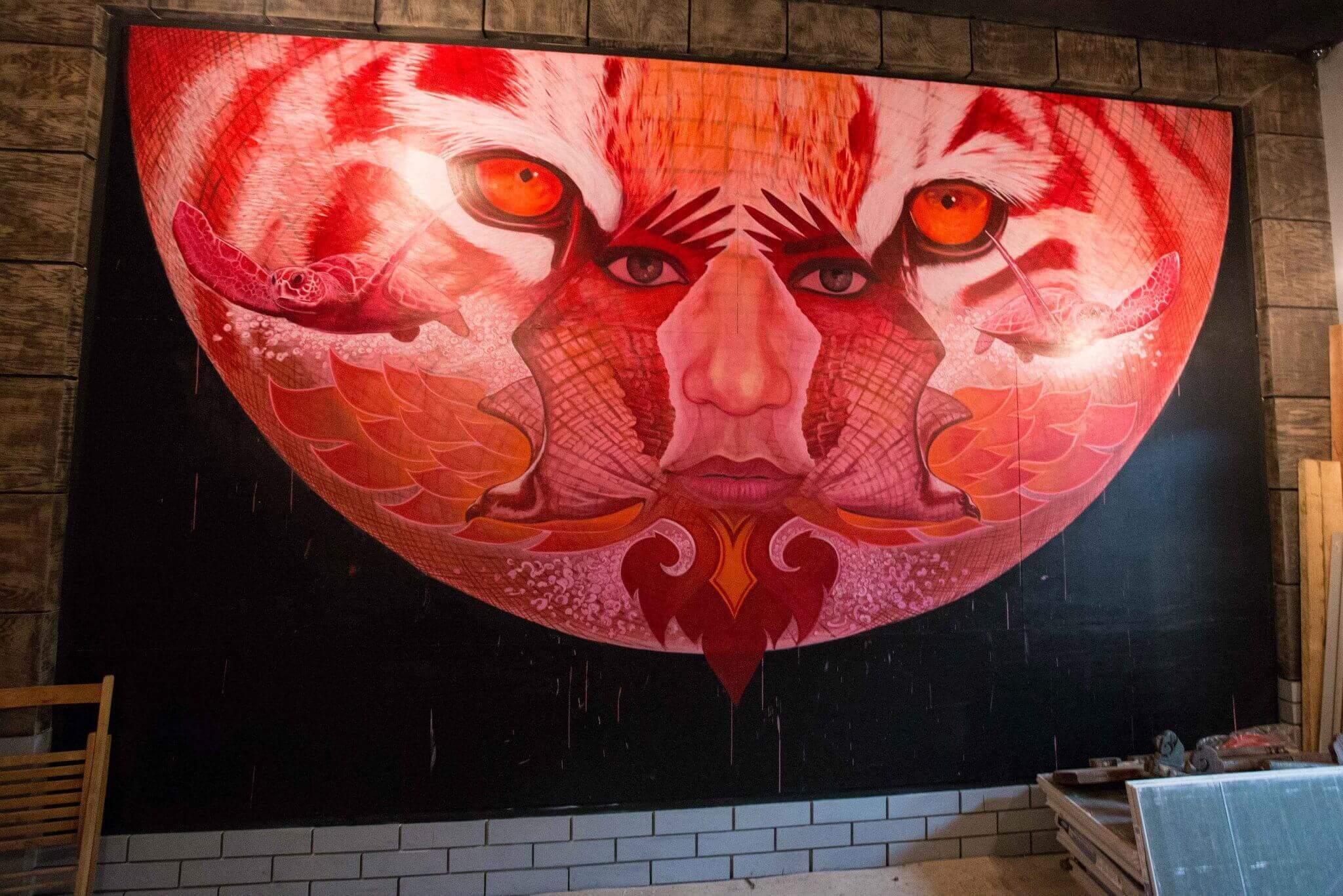 Wolf Eyes Mural by Marc Evan
