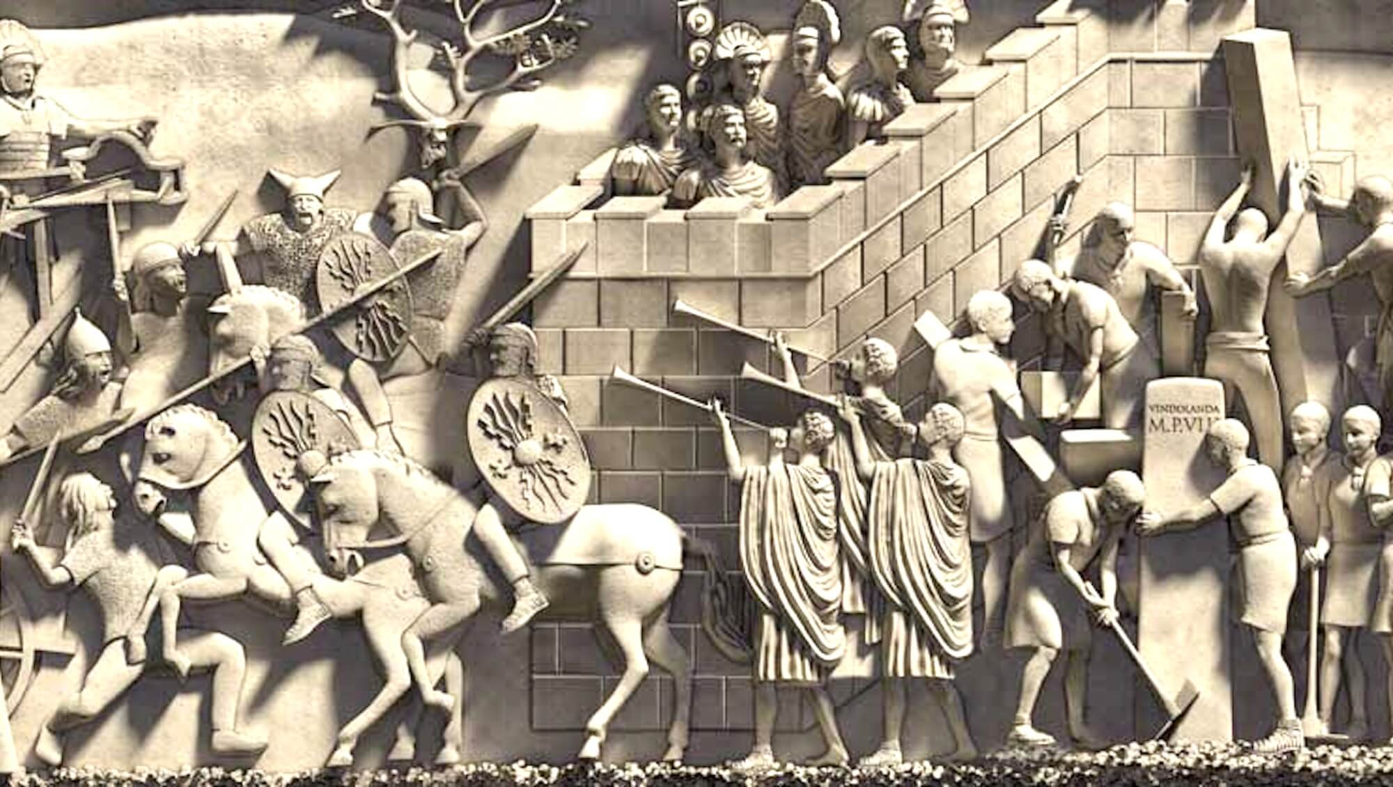 Hadrians Banner Detail by Barry Croucher