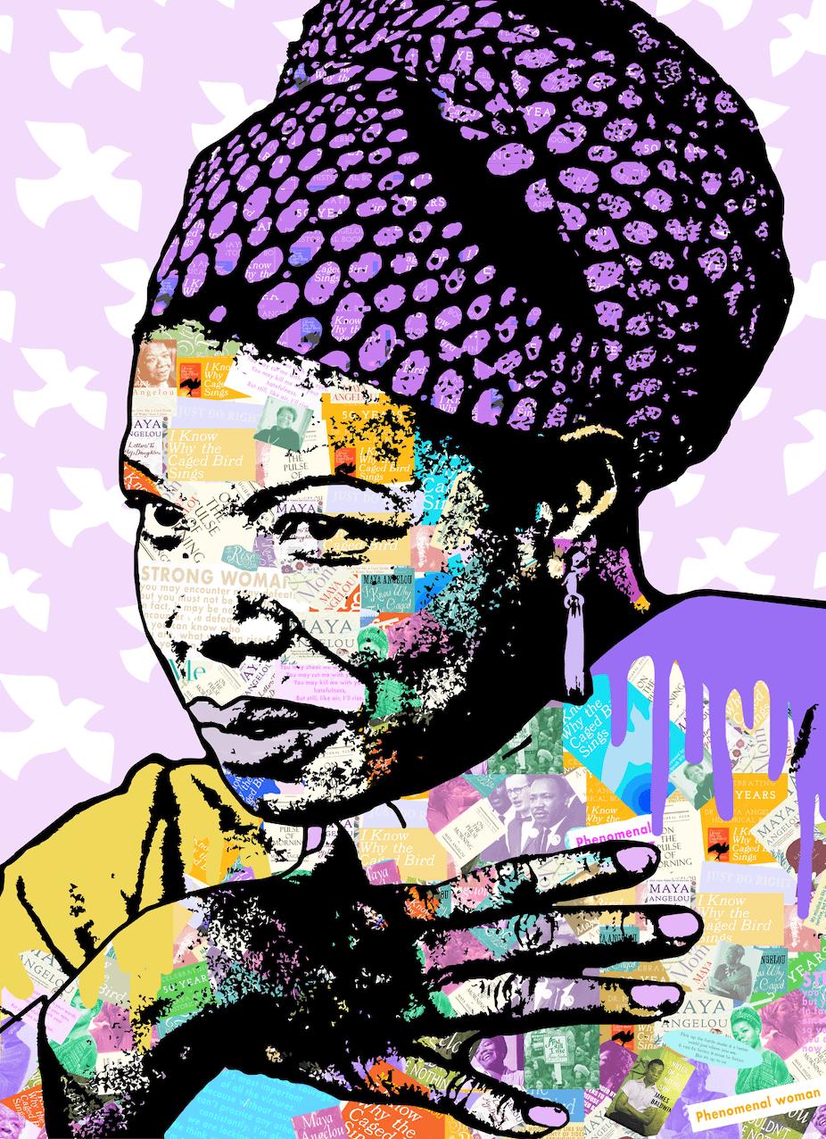 Maya Angelou 2 by Amy Smith